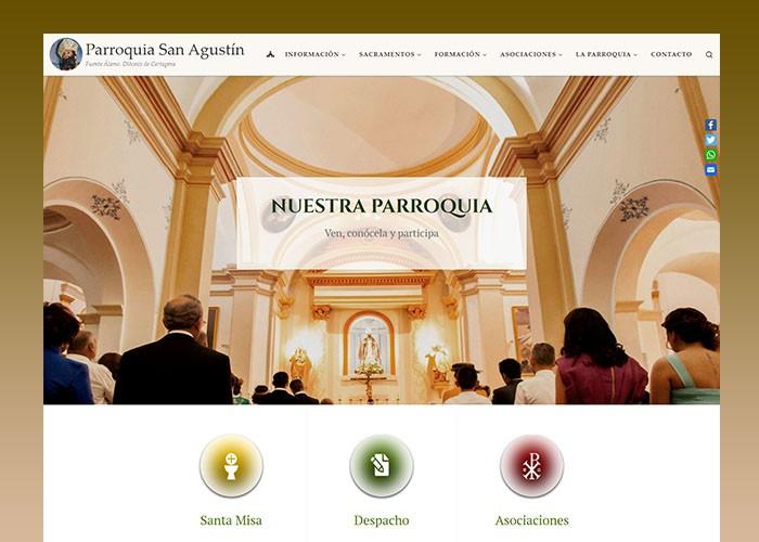 Abre al público el sitio web de la Parroquia de San Agustín de Fuente Álamo de Murcia