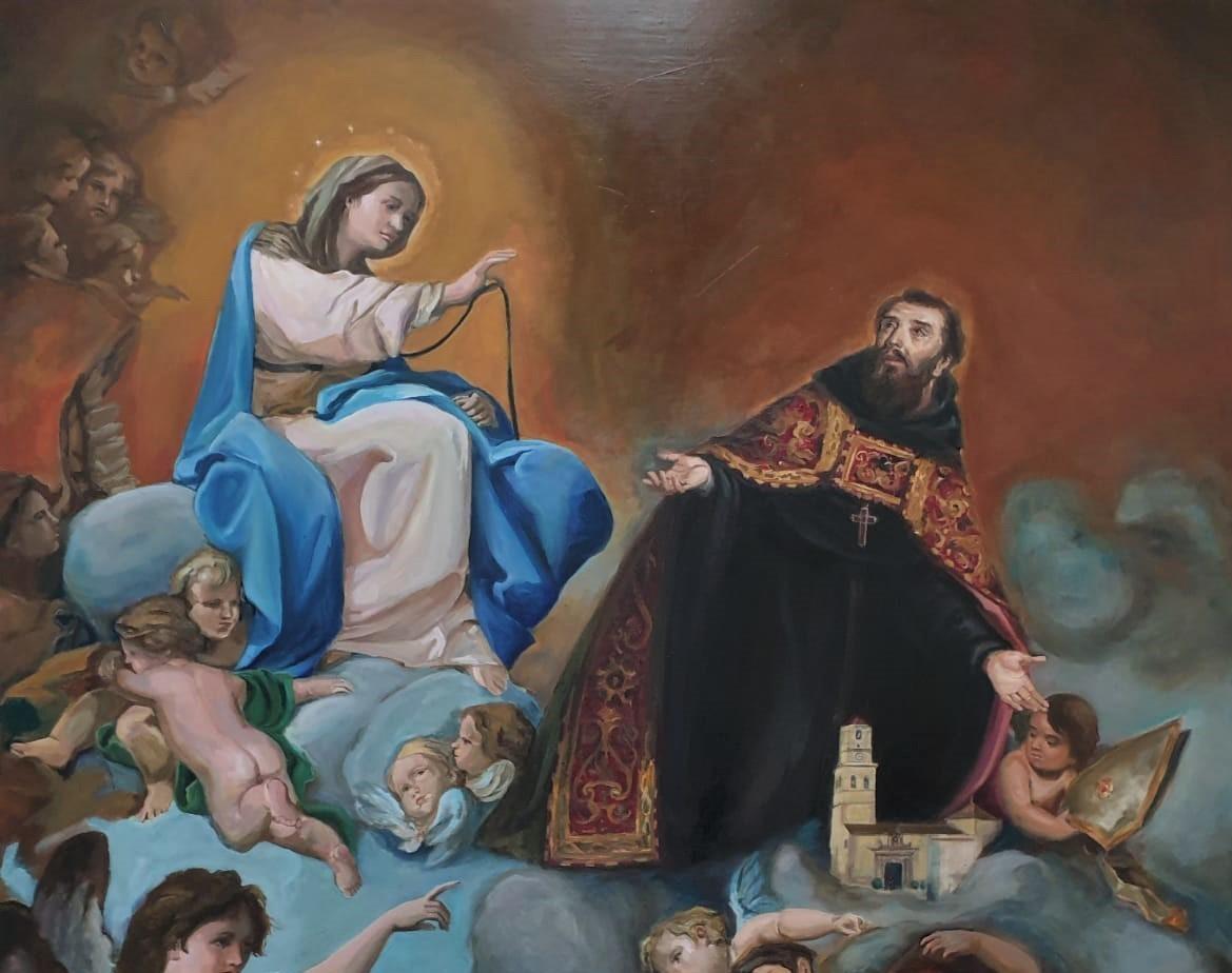 Un cuadro de San Agustín se incorpora al patrimonio de la parroquia.