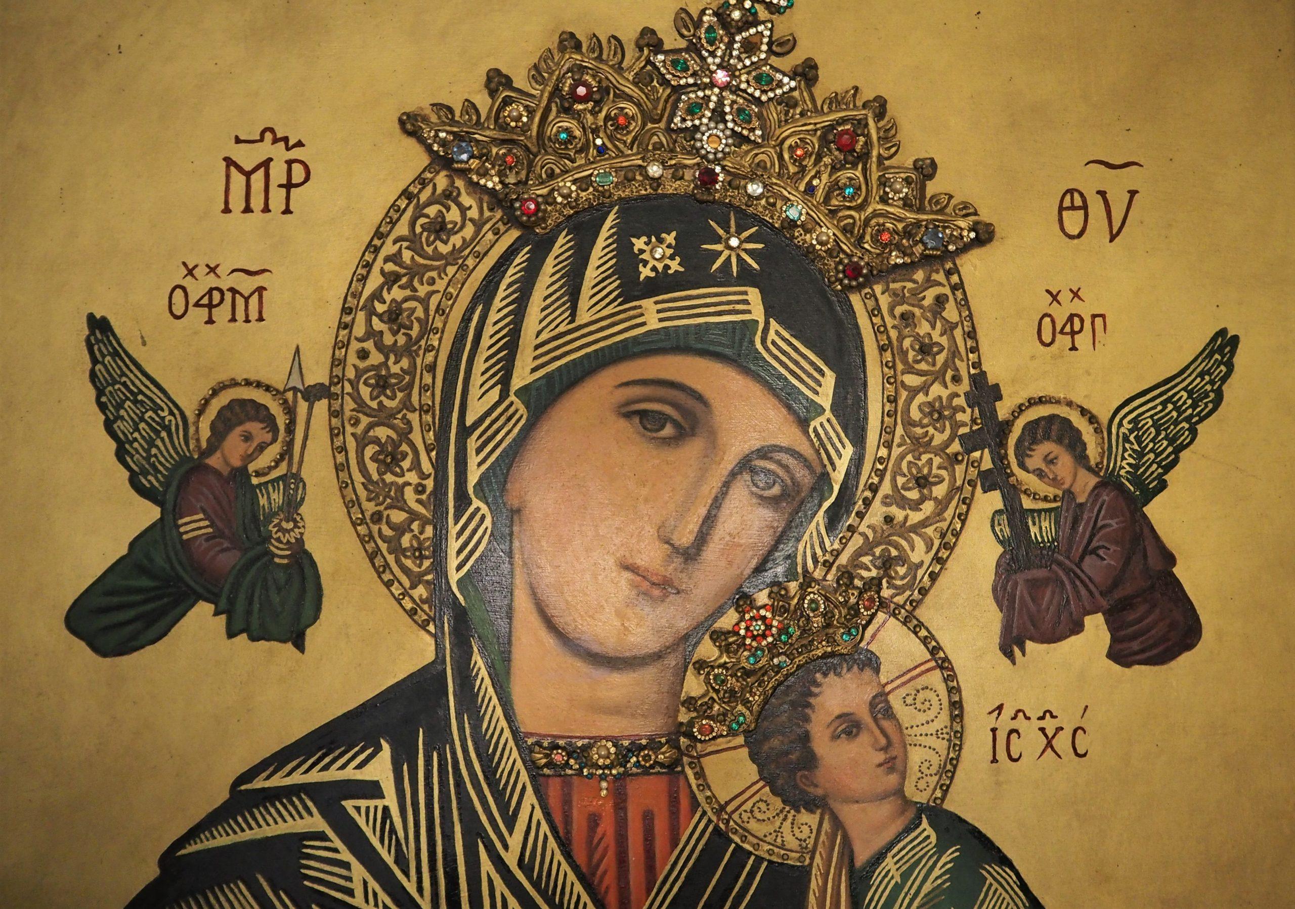 Cuadro de la Virgen del Perpetuo Socorro.